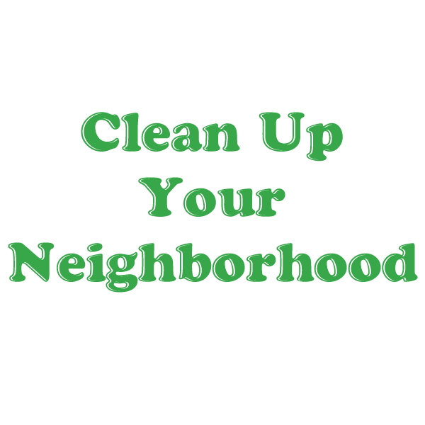 2020 Neighborhood Cleanup
